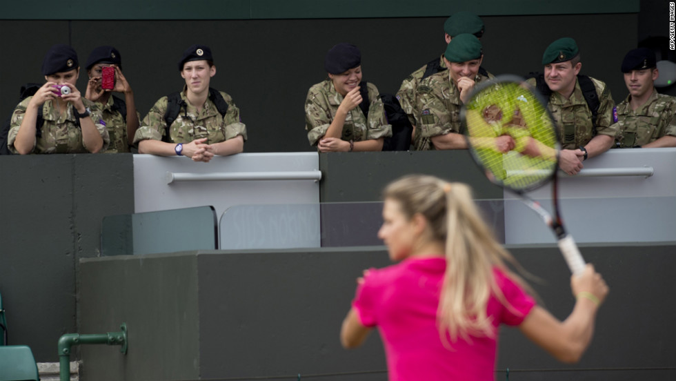 British soldiers find tennis boring, await return to Falkland Islands.