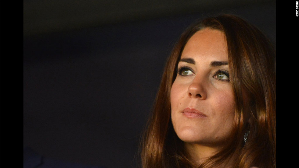 Catherine, Duchess of Cambridge, attends the opening ceremony of the London 2012 Olympic Games on Friday.