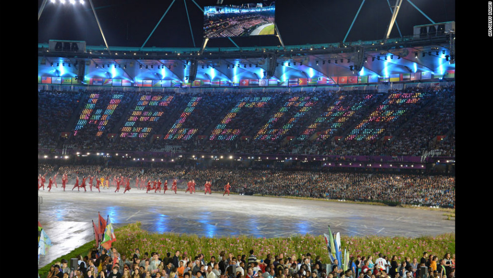 Dancers perform during the opening ceremony.