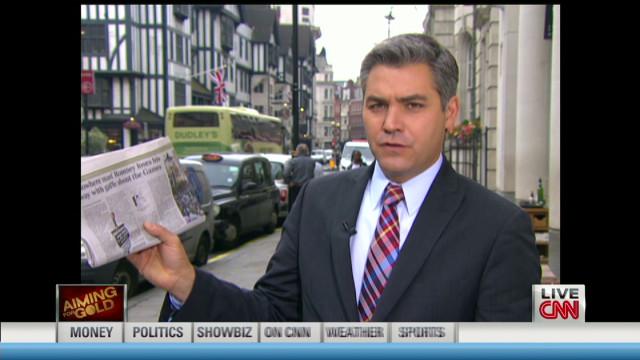 Romney off to a rocky start in London