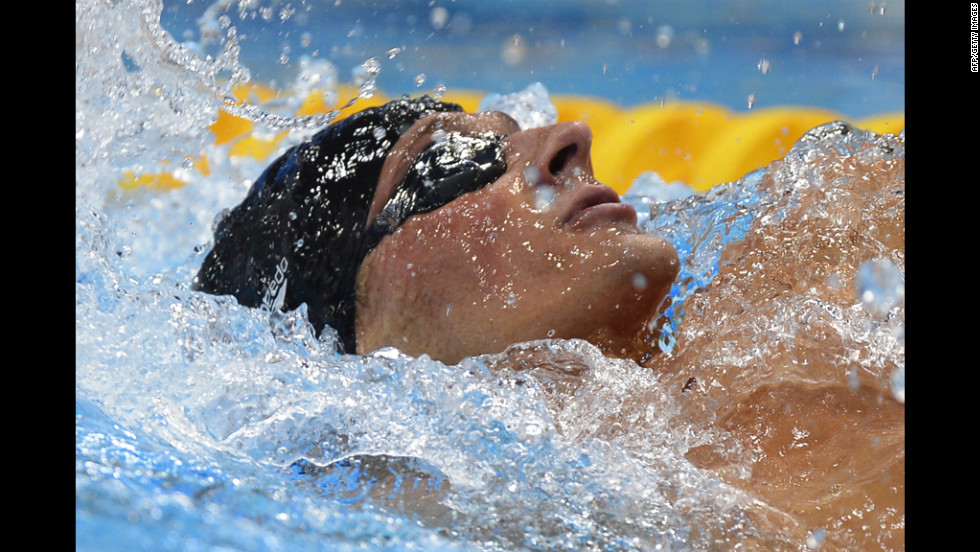 While Lochte (above) took gold, Brazil's Thiago Pereira secured the silver medal and Japan's Kosuke Hagino won bronze.