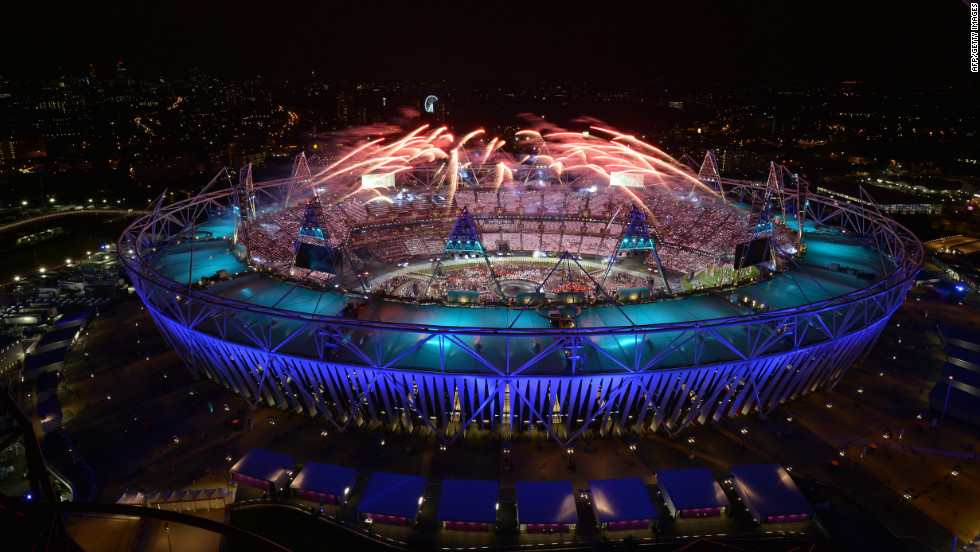 "Fireworks light up the sky during the opening ceremony. Check out photos from the <a href=""http://www.cnn.com/2012/08/12/world/gallery/olympic-closing-ceremony/index.html"" target=""_blank"">closing ceremony.</a>"