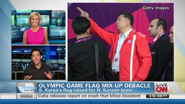 A London Games flag flap
