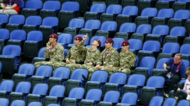 Why so many empty seats at London games?