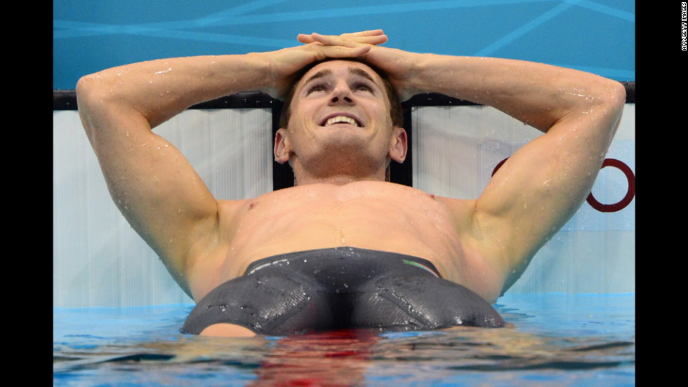 "South Africa's Cameron Van der Burgh celebrates after breaking the world record in the men's 100-meter breaststroke at the London Olympics on Sunday, July 29. Check out <a href=""http://www.cnn.com/2012/07/28/worldsport/gallery/olympics-day-one/index.html""><strong>Day 1 of competition</a></strong> from Saturday, July 28. The 2012 Summer Olympics ran through August 12."