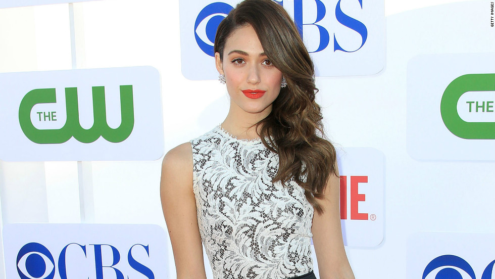 """Shameless"" star Emmy Rossum arrives at The CW, CBS and Showtime 2012 Summer TCA Party in Beverly Hills on July 29."