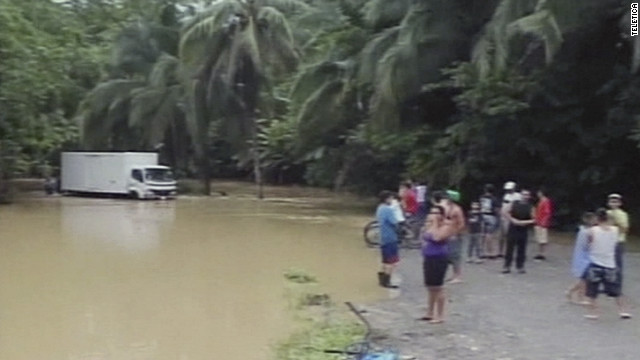 Flooding in Costa Rica has forced evacuations and may be responsible for at least one death, relief workers said Sunday.