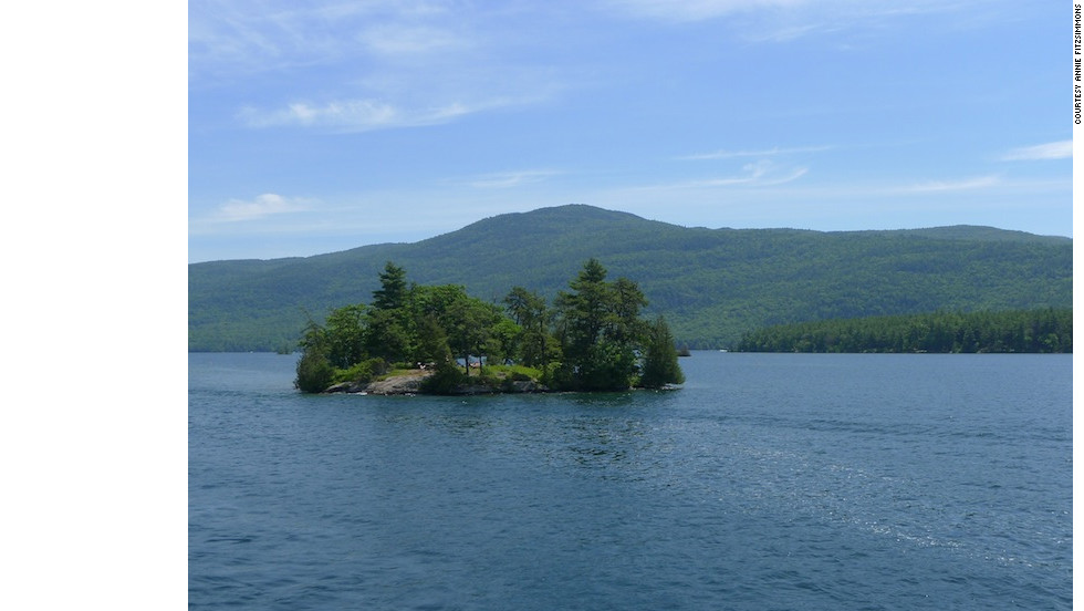 Lake George, in New York's Adirondacks, boasts beautiful scenery and numerous family-friendly activities.