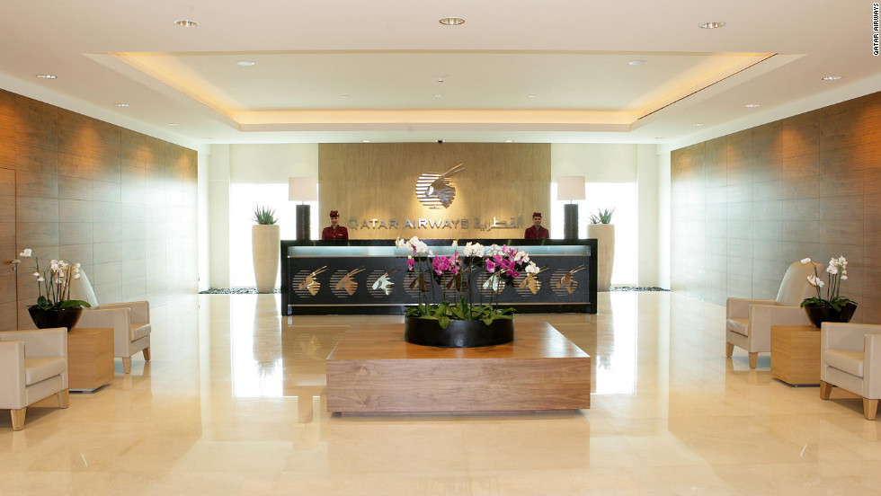 The Qatar Airways Premium Terminal at Doha International Airport has a full-service Elemis spa.