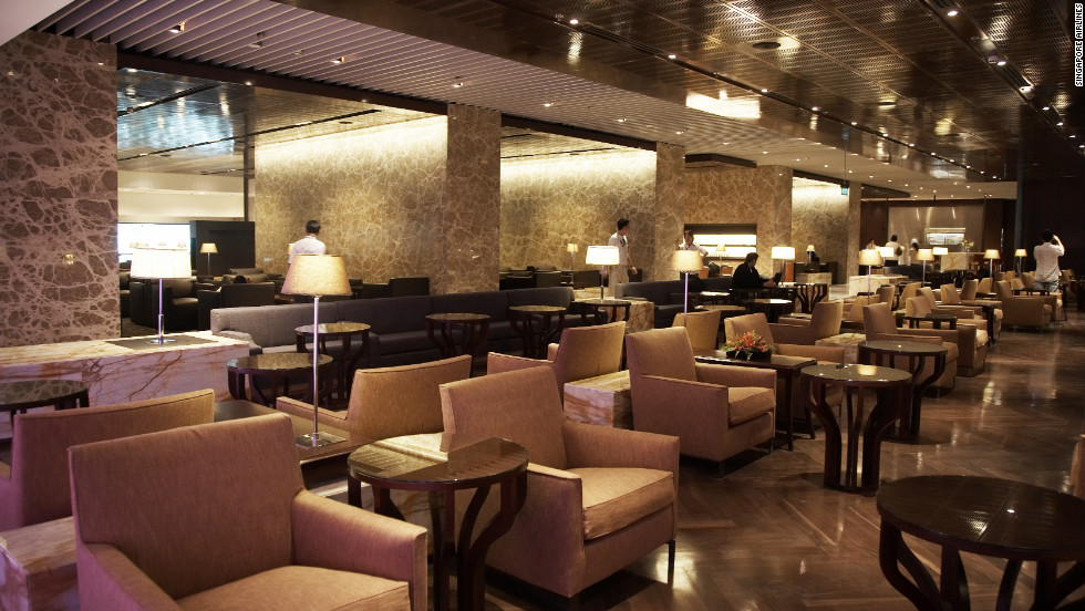 The Singapore Airlines SilverKris Lounge has 13 Italian-leather slumberettes and an attentive staff.
