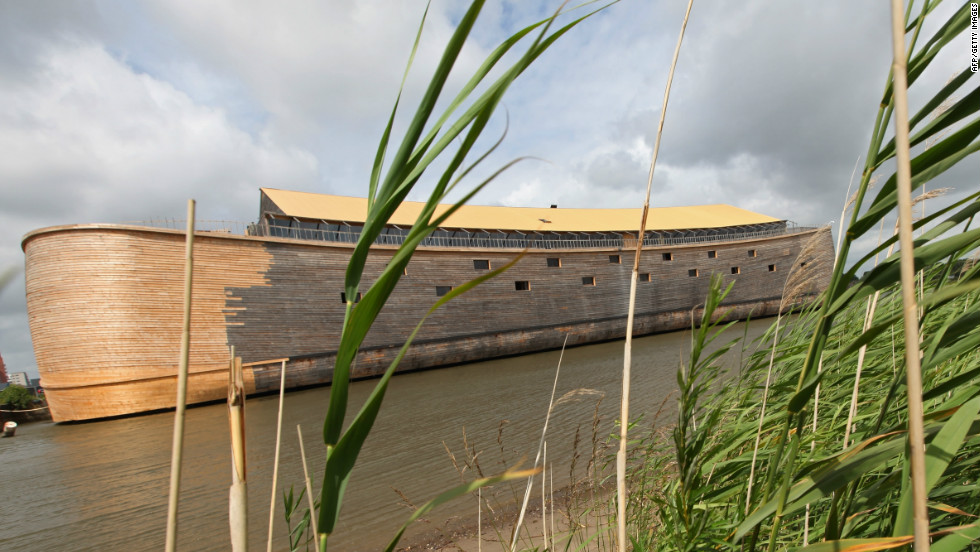 Johan Huibers, a wealthy Dutch Christian, has built a full-scale replica of Noah's ark according to the measurements given in the Bible.