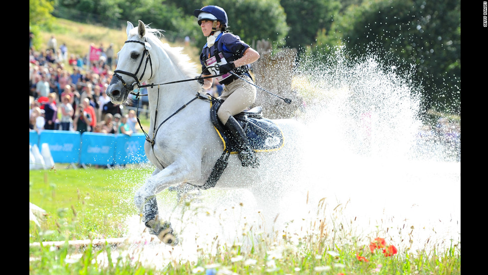 Italy's Vittoria Panizzon was 11th in the individual eventing, riding Borough Pennyz.