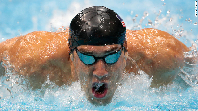 Michael Phelps of the United States competes in the second semifinal heat of the men's 200 meter butterfly on Monday.