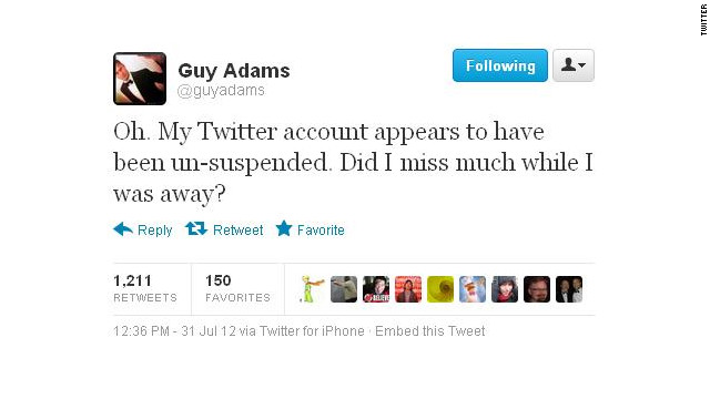 Twitter reinstates journalist's account