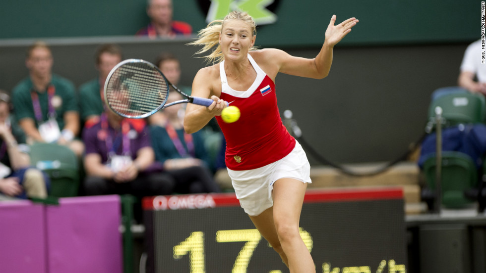 Russia's Maria Sharapova caused one of the hometown talent to leave the Olympic competition, beating Laura Robson 7-6 (7-5) 6-3.