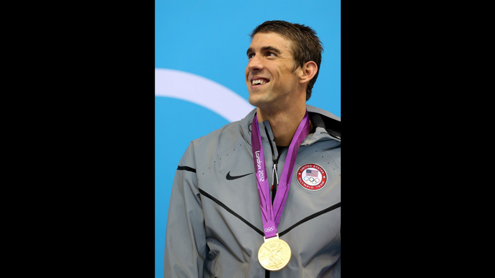 Michael Phelps set an Olympic record with his 19th lifetime medal.