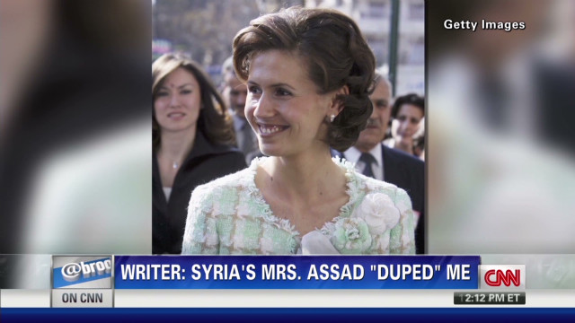 "Writer: Asma Assad ""duped"" me"