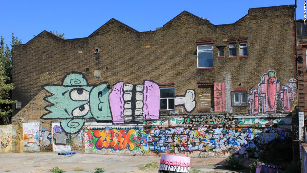 Coca-Cola commissioned an agency to paint an Olympics-inspired mural over the original work by Sweet Toof, NEMO, Sickboy and Mighty Mo seen in this image. Shortly after it was finished, the mural was defaced.