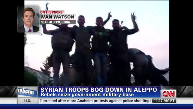 Syrian rebels seize military base