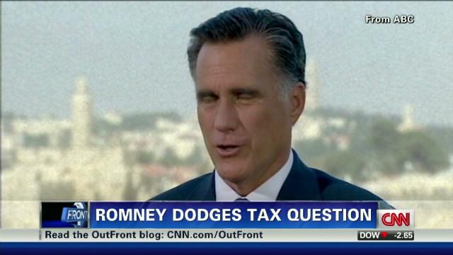 Romney dodges tax question
