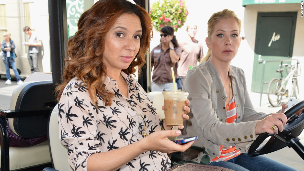 """Up All Night's"" Maya Rudolph and Christina Applegate go for a joyride."