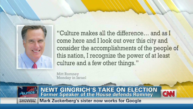 Gingrich: Romney 'culture' comment okay
