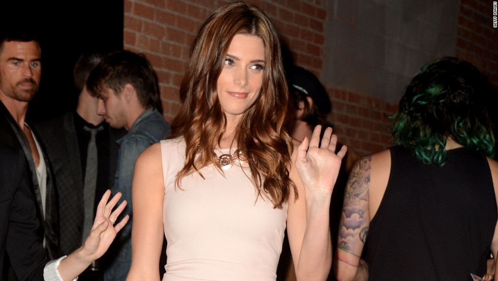 Ashley Greene arrives at a party for NYLON Magazine in Hollywood.