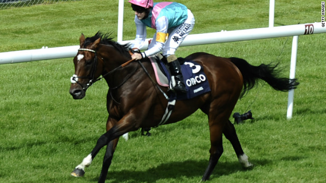 Tom Queally rode Frankel to victory at the Sussex Stakes at Goodwood racecourse in Chichester, England.
