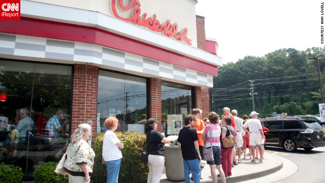 Supporters turn out for Chick-fil-A day