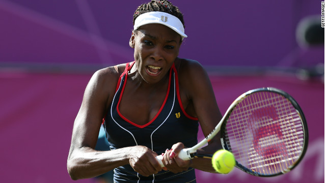 Venus Williams crashed out of the Olympic tennis tournament to Germany's Angelique Kerber