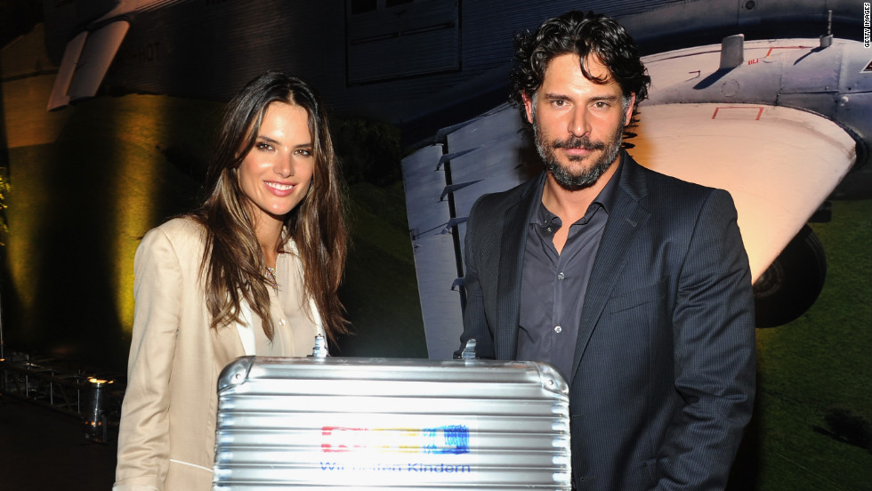 Alessandra Ambrosio and Joe Manganiello attend an event in New York.