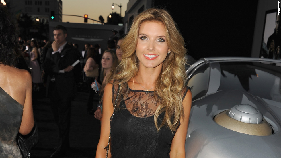 "Audrina Patridge arrives at the ""Total Recall"" premiere."