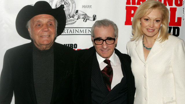 "Jake LaMotta, Martin Scorsese and Cathy Moriarty attend a special screening of ""Raging Bull"" to celebrate it's 25th anniversary."