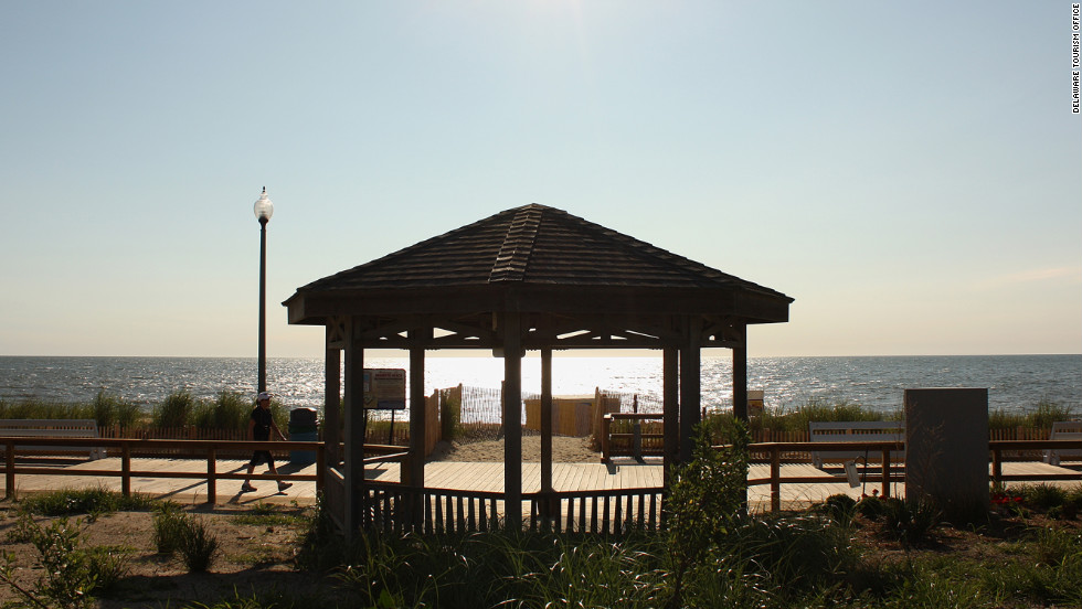 Just steps away from the Rehoboth Beach boardwalk shops and rides, visitors can enjoy a quiet walk by the ocean.