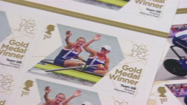 UK stamps celebrate gold
