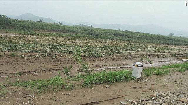 Crops destroyed in North Korea flood
