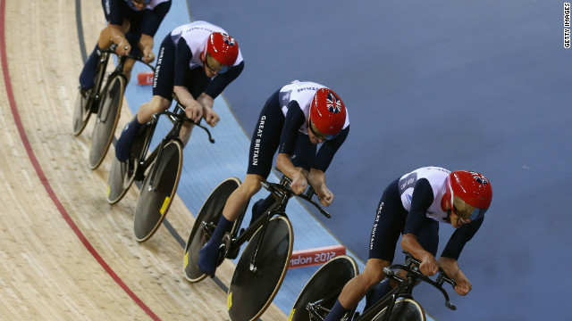 pursuit cycling team gb win gold
