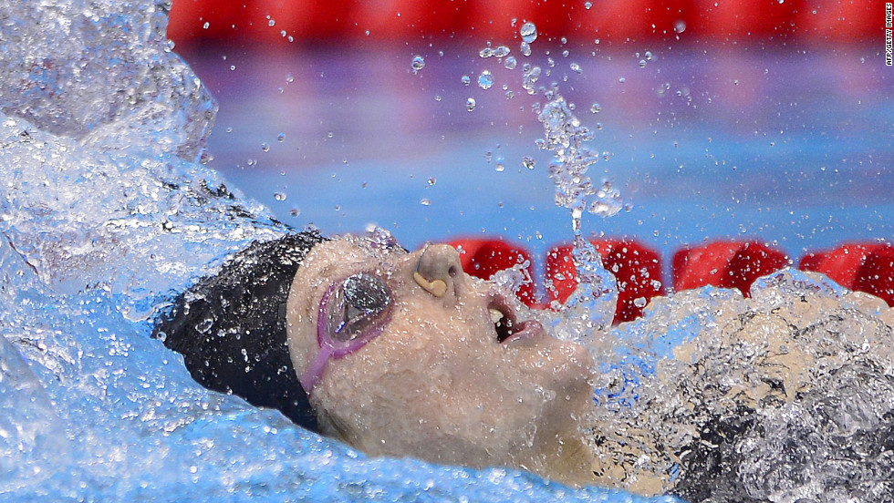 U.S. swimmer Missy Franklin competes in the women's 200-meter backstroke final on Friday.