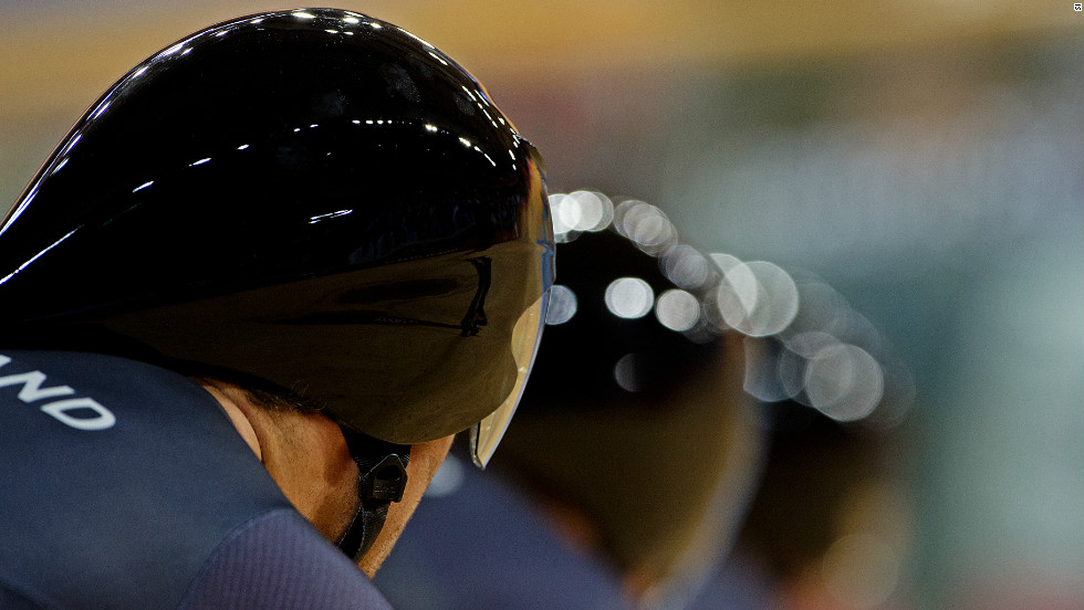 New Zealand's men take their place on the track for the first time at the Olympic velodrome.