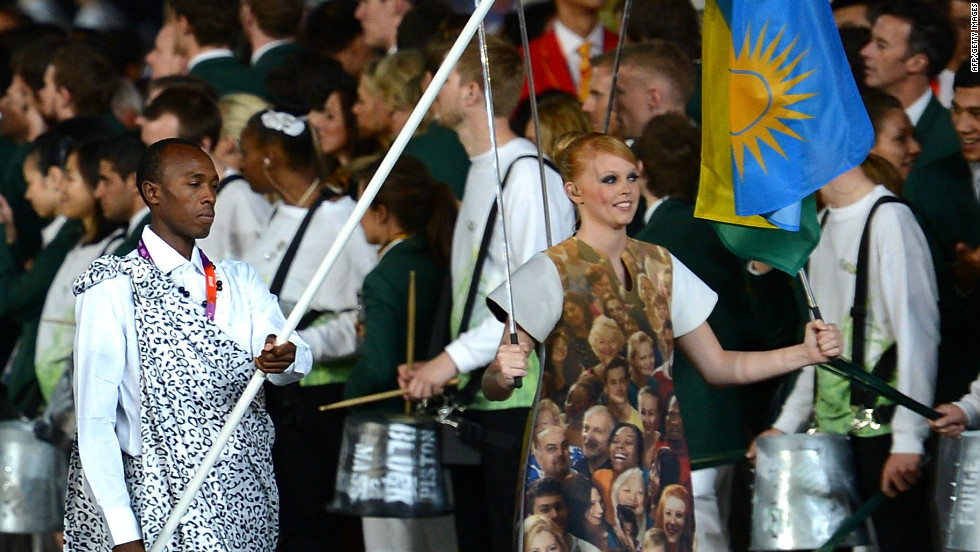 He has overcome the odds to qualify for the London 2012 Olympics, and proudly carried the Rwandan flag during the opening ceremony.