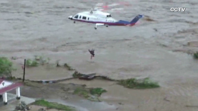 25 people rescued after China typhoon