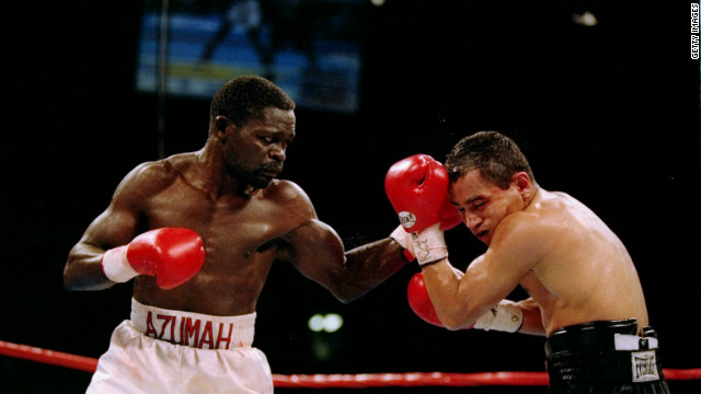 Ghanaian Azumah Nelson is often described as greatest boxer from Africa