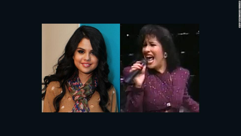"Selena Gomez, who has said she was named after the late Selena Quintanilla Perez, sings alongside the Latin songstress on the <a href=""http://marquee.blogs.cnn.com/2012/04/27/selena-gomez-duets-with-selena-on-tribute-album/"" target=""_blank"">tribute album</a> ""Enamorada De Ti."""