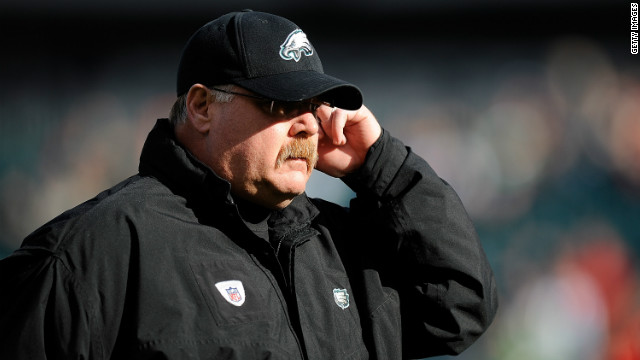 Head coach Andy Reid of the Philadelphia Eagles pictured during a game against the Washington Redskins in January.