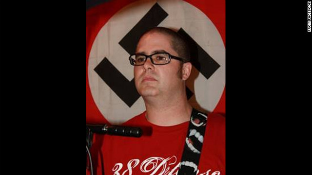 Wade Michael Page appears in a photo taken from a Facebook page that has since been taken down.