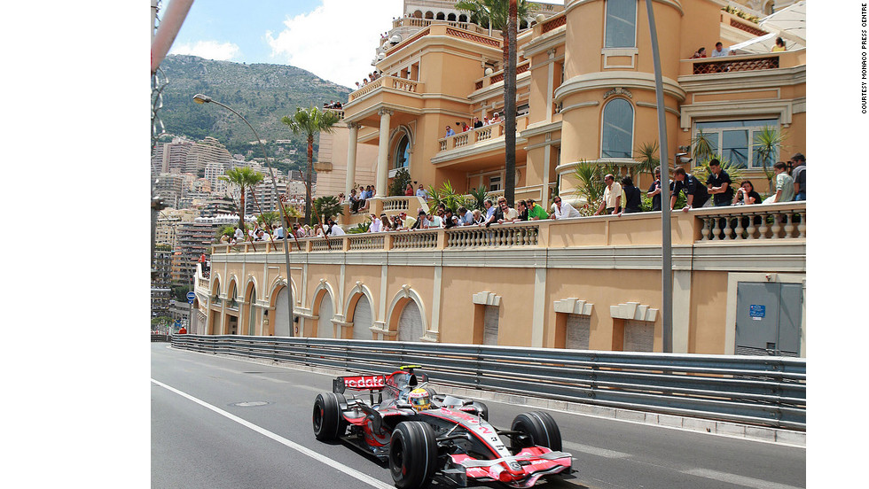 For several days each May, the Grand Prix races through the streets of Monaco.