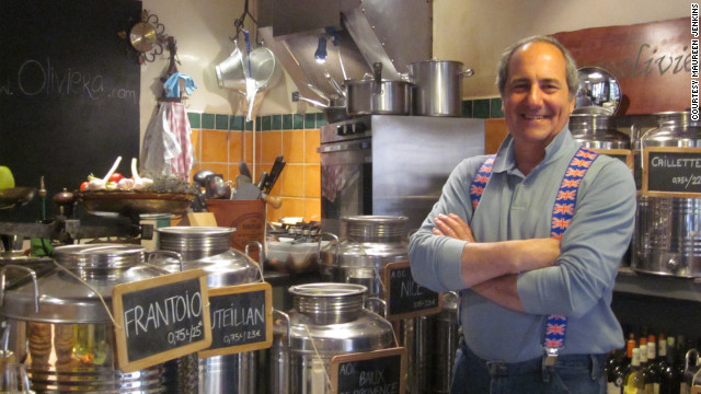 On a narrow street in Vieux Nice stands Oliviera, a tiny restaurant where owner Nadim Beyrouti's seasonal cuisine showcases the Provençal olive oils he sells.