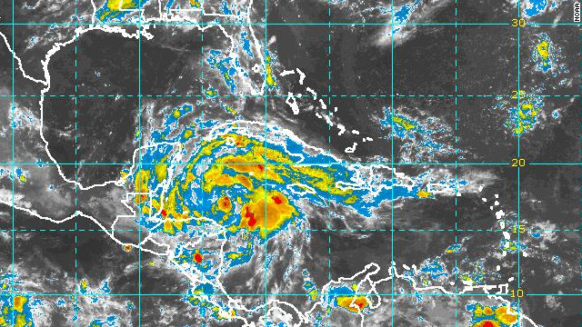 Ernesto is expected to bring areas in Belize, the southern Yucatan Peninsula and northern Guatemala up to 12 inches of rain.