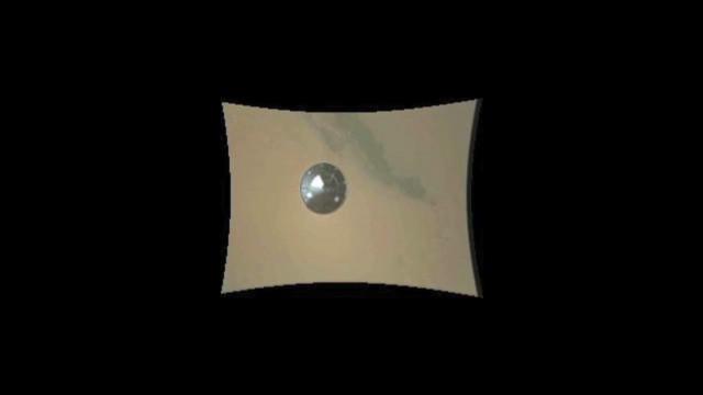 Mars rover Curiosity's descent