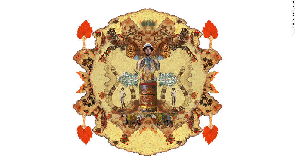 """""""When I thought everything was in chaos, I started creating mandalas,"""" said Hammam. The mandalas represent """"hope."""""""